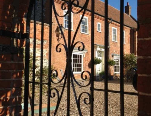 Matching traditionally forged garden gates