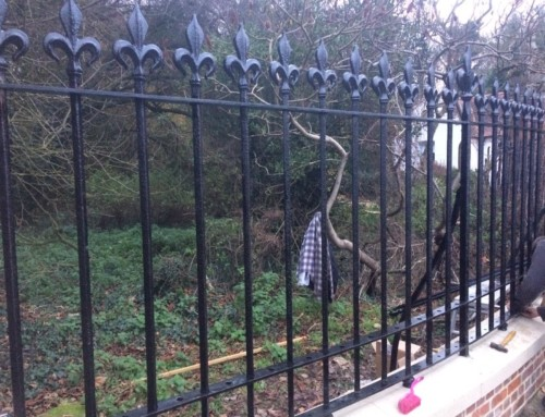 Grade Two Listed Railings at Spixworth Hall